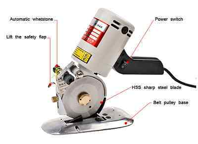 Round Cutting 90mm Blade Electric Cloth Cutter Fabric Cutting Machine 110/220V