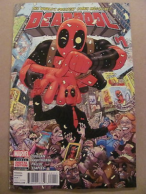 Deadpool #1 Marvel Comics 2015 Series 9.6 Near Mint+