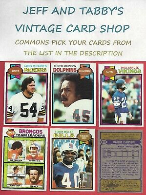 1979 Topps Football you pick commons 8 picks for $2.00  EX cond. and better