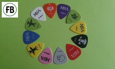 12 Plektren 12er Set Pics Plecks Picks Plektrum  0,58 0,71 0,81 0,96 1,2 1,5