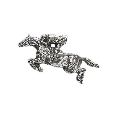 Pewter ~ Horse Jumping With Rider ~ Lapel Pin / Brooch ~ M136
