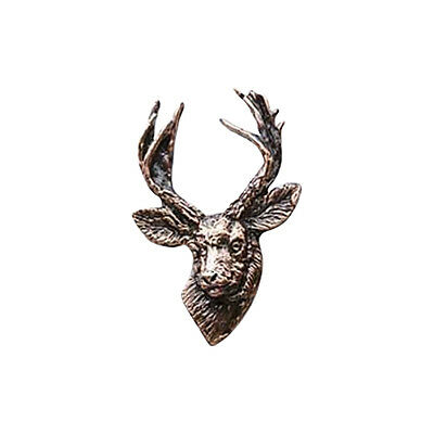 Copper ~ Whitetail Deer Front ~ Lapel Pin / Brooch ~ MC007