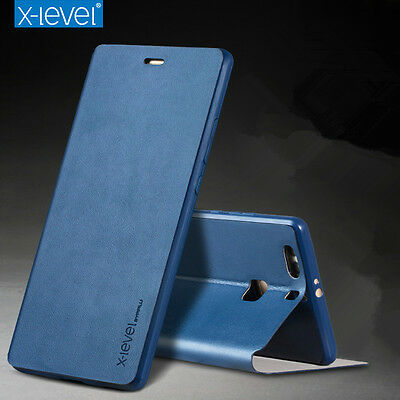 ultrathin luxury slim Genuine Leather Stand flip Wallet Cover UP Case For Huawei