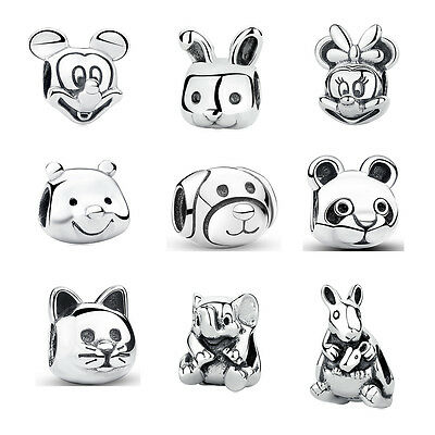 Animal European Sterling Silver charms bead fit charm bracelet necklace US Chain