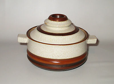 Denby Potters Wheel Lidded Soup Bowl / Individual Casserole Brown Rust England
