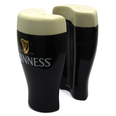 Genuine Guinness Salt and Pepper Set Yin Yang Cruet