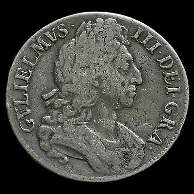 1695 William III Early Milled Silver Octavo Crown – Fine