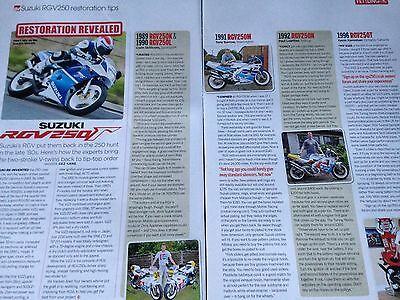 Suzuki Rgv250F # Restoration Tips # 2 Page Original Motorcycle Article