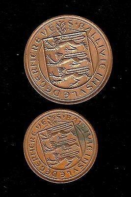 2 Uk Coins, 8 Dubles 1959 ,2 Pence 1971 Year Guernsey