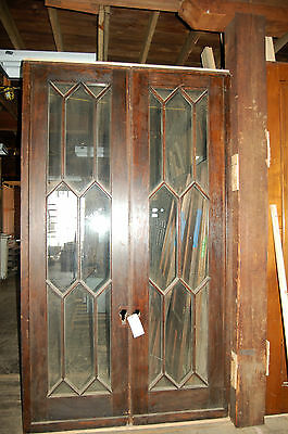 Antique French Door Set From Newberry Mansion Grosse Point Mi. Oak With Divided