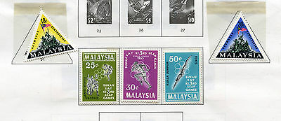 Weeda Malaysia & States VF mint NH lot of 1965-71 issues, Butterfly CV $143.75