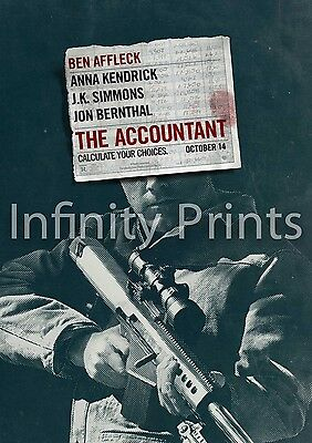 The Accountant Movie Film Poster A A2 A3 A4