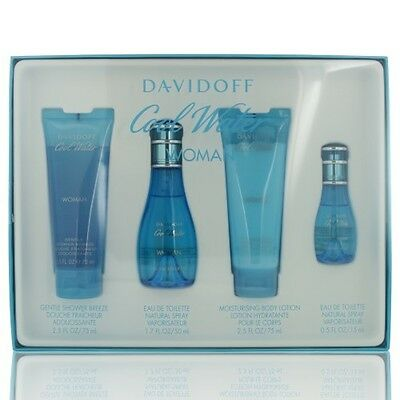Davidoff Cool Water for Women Gift Set 4 piece - BRAND NEW IN BOX
