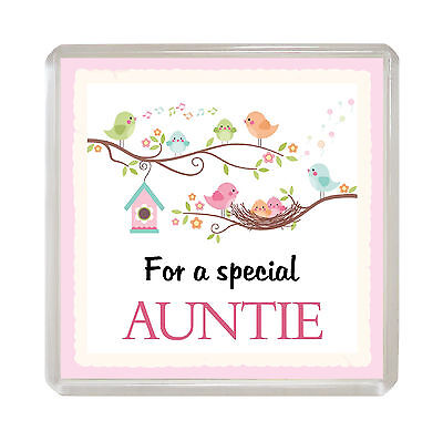 FOR A SPECIAL AUNTIE Sentimental FRIDGE MAGNET Loving Fun Birthday Gift Idea