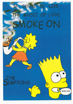 SIMPSONS carte postale   POSTCARD   THE MUSIC OF LOVE