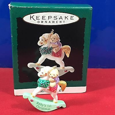 Hallmark Miniature Ornament Baby' First Christmas 1994 New