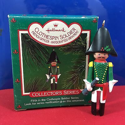 Hallmark Ornament Clothespin Soldier French Officer 1986 New
