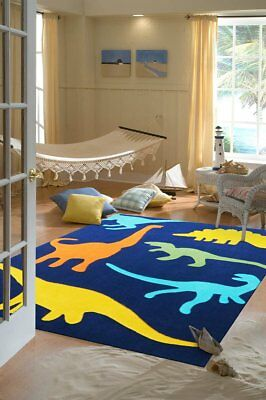 NEW Blue Dinosaurs Rug