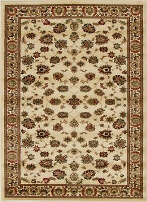NEW Traditional Floral Design Rug Ivory