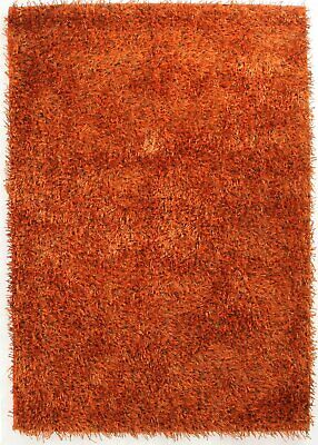 NEW Metallic Thick, Thin Shag Rug Rust
