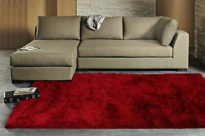 NEW Plush Luxury Red Shag Rug