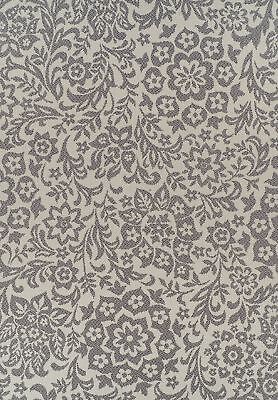 NEW Indoor Outdoor Fine Damask Design Rug Cream