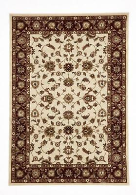 NEW Classic Rug Ivory with Red Border