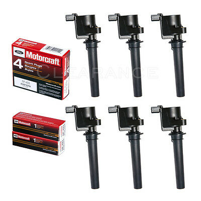 1 Motorcraft SP413 Spark Plug 1 Ignition Coil For 2000-07 Ford /& Mercury +