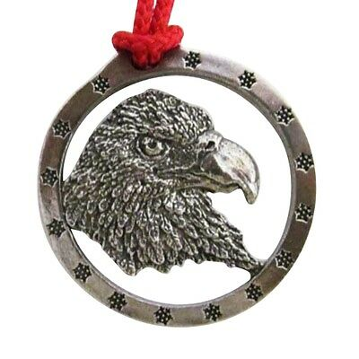 Pewter ~ Bald Eagle Head ~ Small ~ Holiday Ornament ~ B050OR