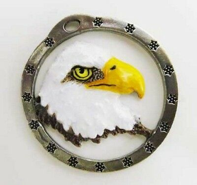 Painted ~ Bald Eagle Head ~ Holiday Ornament ~ BP050OR