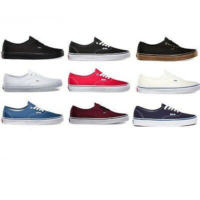 Vans Authentic Classic Canvas Shoes Brand New MSRP $50(Free PRIORITY Ship w/box)