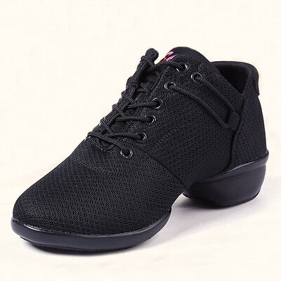 Lady Jazz Hip Pop Dancing Shoes Mesh Upper Soft Footwear Sports Casual Sneakers