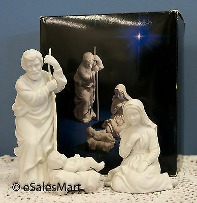 "Avon Nativity Collectibles ""Holy Family"" White Porcelain Bisque Figurine"