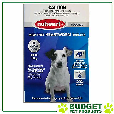 Nuheart For Small Dog up to 11kg Blue 6 Tablets