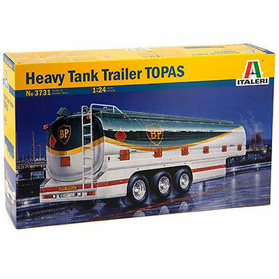Italeri Plastic Model Kit 1/24 Heavy BP Tank Trailer TOPAS #3731