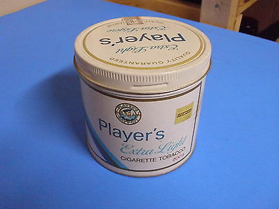 Vintage Players Extra Light Cigarette Tobacco Tin Can