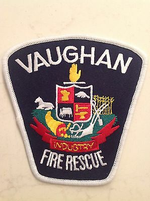Canada Fire Department Patch Vaughan Ontario Silver