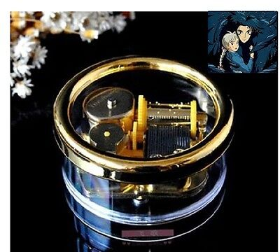 Gorgerous Circle in Gold Wind Up Music Box : Merry Go Round of Life