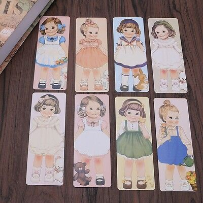 30 Pcs Cartoon Creative Bookmarks Note Pad Memo Label Stationery Book Mark Gift