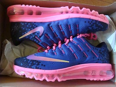 New Kids' Nike Air Max 2016 Print (Gs) 820332 500 Size 6Y Wmn Size 7.5
