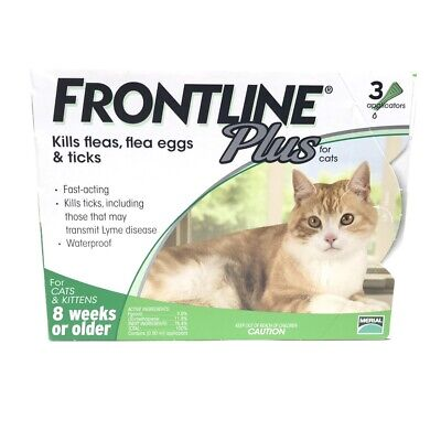 Frontline Plus For Cat (8 Weeks or Older) 6 MONTHS (Doses) Flea & Tick Control