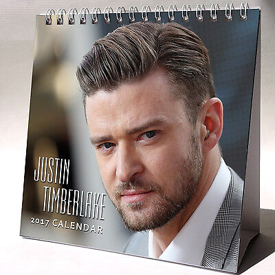Justin Timberlake Desktop Calendar 2017 NEW Mirrors Cry Me a River Suit & Tie