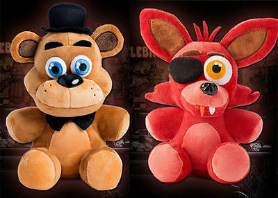 """10"""" New FNAF Five Nights at Freddy's FREDDY & FOXY Official Plush Toy gift"""