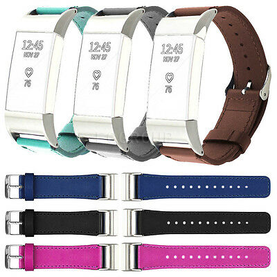 Genuine Replacement Leather Watch Strap Band Of Wrist for Fitbit Charge 2 II New