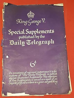 Daily Telegraph 1936 Special Supplement. Life, reign and death of King George V.
