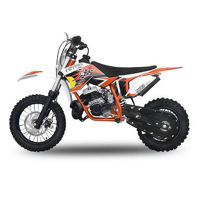 "49cc Dirtbike NRG50 12/10"" Zoll orange Cross Dirt Bike Motocross Pocketbike NEU"