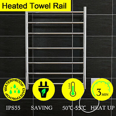 New Brand Heated Towel Rail Rack  Bathroom Square Round Design Stainless Steel