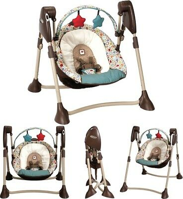 Portable Baby Swing Comfort Seat Musical Foldable Bouncer Rocker Chair Infant