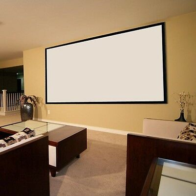 100'' inch Matte White Fabric Projector Projection Screen Theater UK Stock