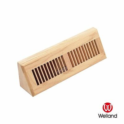 WELLAND 15 Inch Red Oak Baseboard Diffuser Wood Vent Register, Unfinished